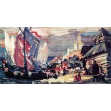 Pier in novgorod 1906