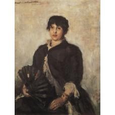 Portrait of olga alyabyeva 1889