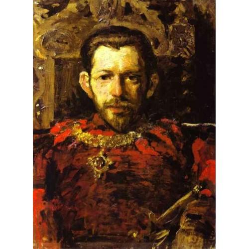 Portrait of s mamontov in a theatre costume