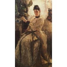 Portrait of sofia golitsyna 1886