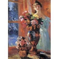Still life with portrait of pertseva 1916
