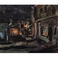 Tatar street in yalta night 1910