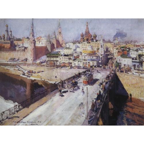 The moskva river bridge 1914