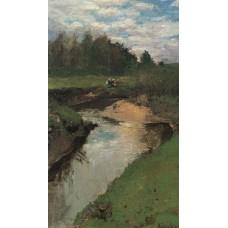 The river vorya at abramtsevo