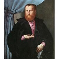 Portrait of a Man in Black Silk Cloak