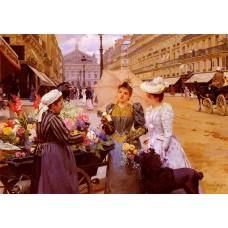 Marchande De Fleurs Avenue De L'Opera
