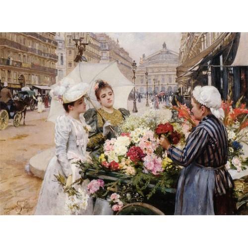 The Flower Seller Avenue de L'Opera Paris