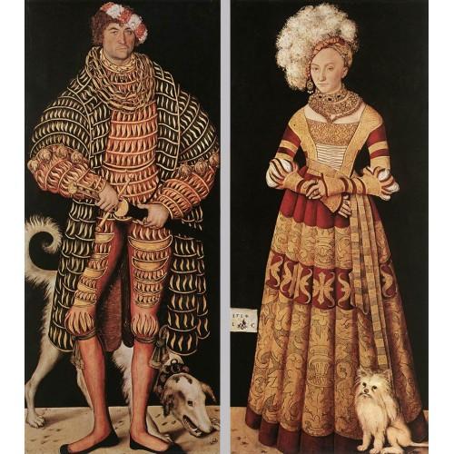 Portraits of Duke of Saxony and his wife Katharina von Meckl