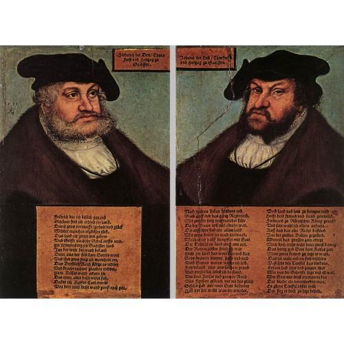 Portraits of Johann I and Frederick III the wise