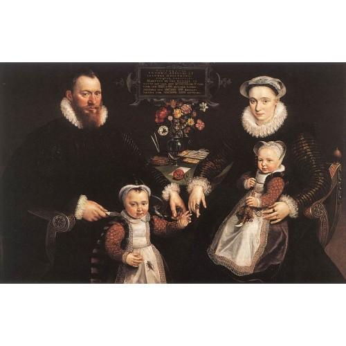 Portrait of Antonius Anselmus His Wife and Their Children