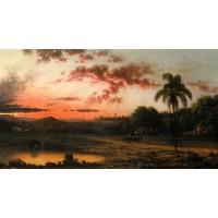 Sunset A Scene in Brazil
