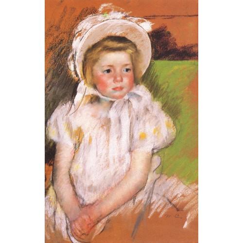 Simone in a White Bonnet
