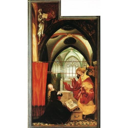 Isenheim Altarpiece (second view) The Annunciation