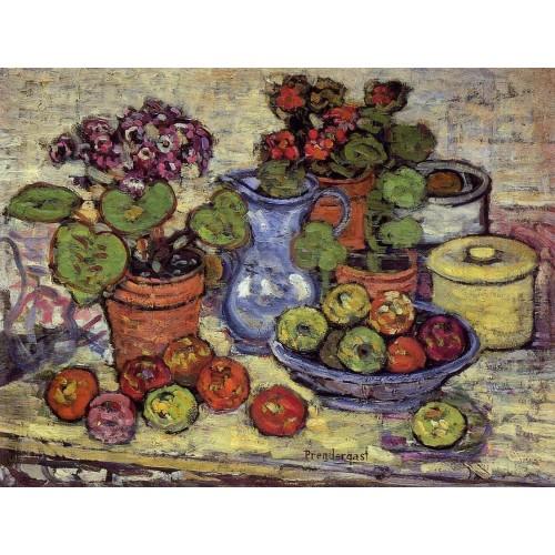 Cinerarias and Fruit