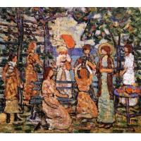 Ladies in a Seaside Arbor