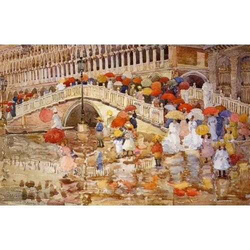 Umbrellas in the Rain Venice