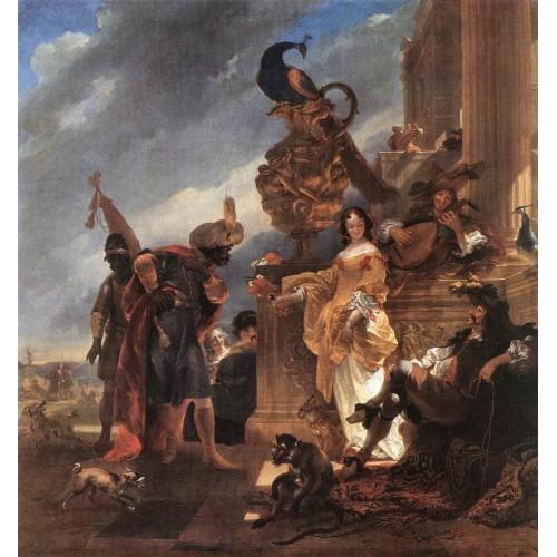 Merchant Receiving a Moor in the Harbour