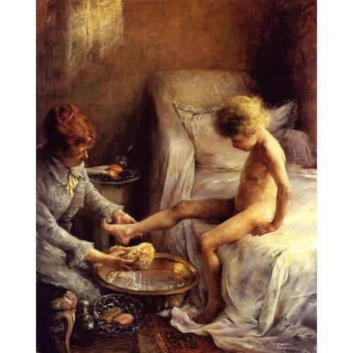 Reine Goeneutte Washing the Young Jean Guerard