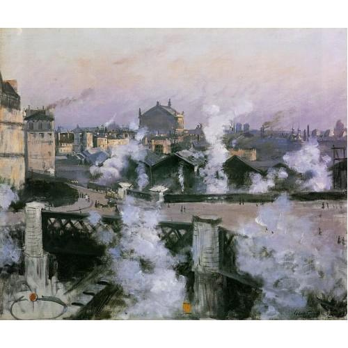 The Pont de l'Europe and Gare Saint Lazare