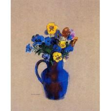 Vase of Flowers Pansies