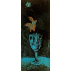 A blue vase