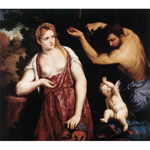 Venus and Mars with Cupid