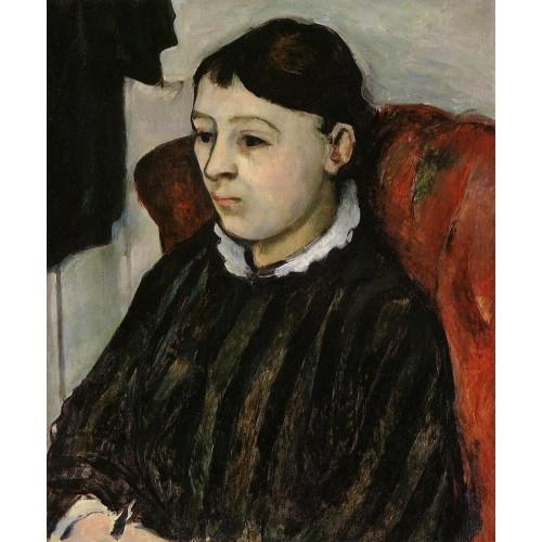 Madame Cezanne in a Striped Robe
