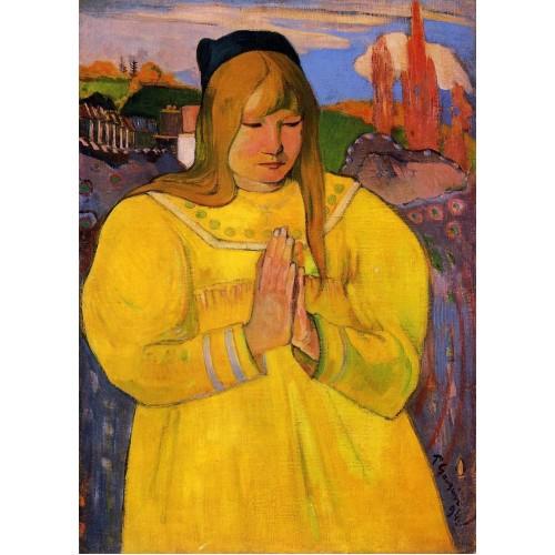 Breton Woman in Prayer