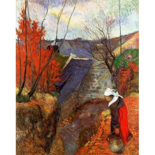 Breton Woman with Pitcher