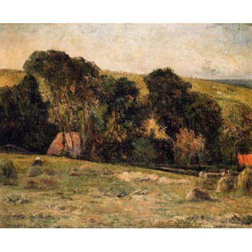 Haymaking near Dieppe