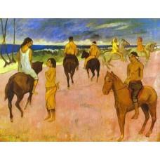 Horsemen on the Beach