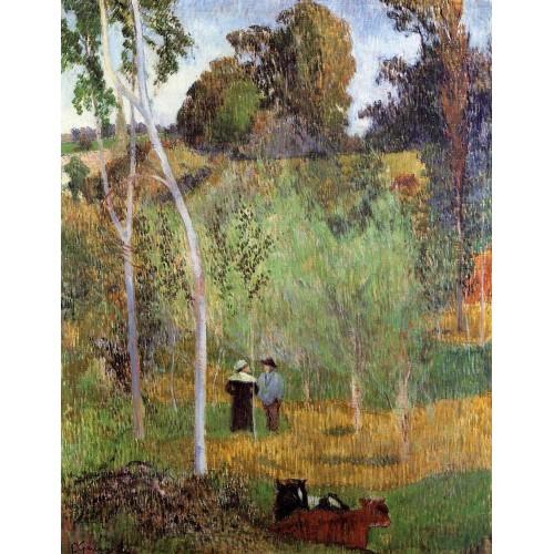 Shepherd and Shepherdess in a Meadow