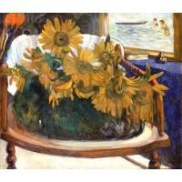 Still Life with Sunflowers on an Armchair