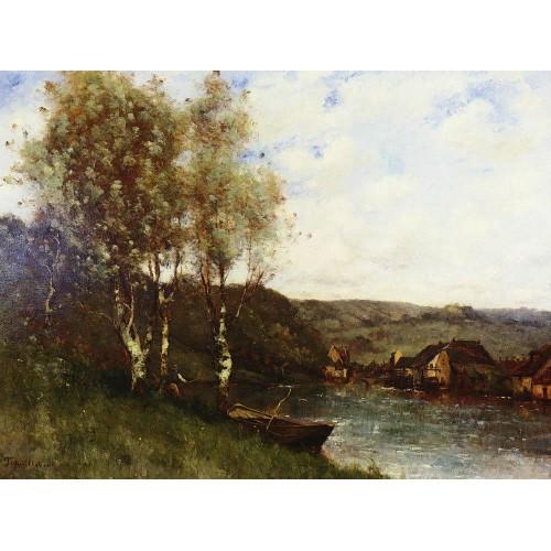 Fisherman at the River's Edge