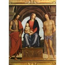 The Madonna between St John the Baptist and St Sebastian