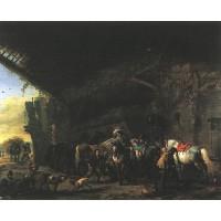 Scene in front of an Inn
