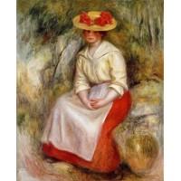 Gabrielle in a Straw Hat