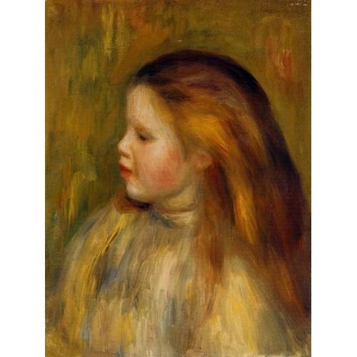 Head of a Little Girl in Profile