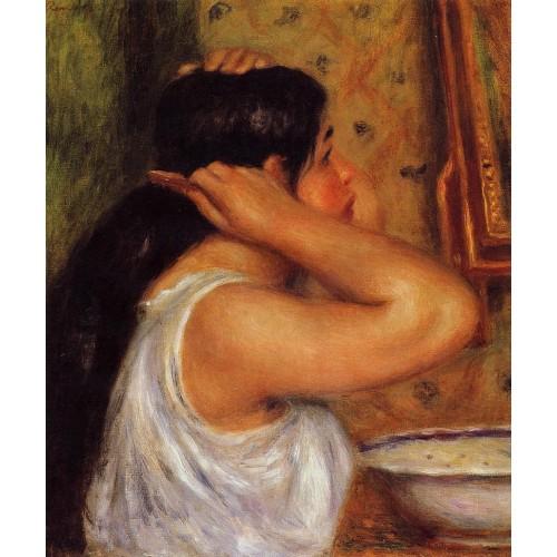 La Toilette Woman Combing Her Hair