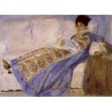 Madame Monet on a Sofa