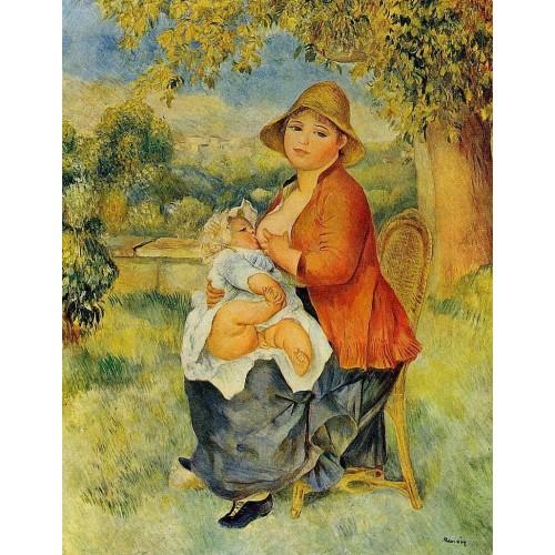 Motherhood (Woman Breast Feeding Her Child) 1
