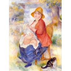 Motherhood (Woman Breast Feeding Her Child) 2