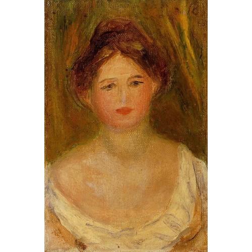 Portrait of a Woman with Hair Bun