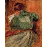 Reader in Green