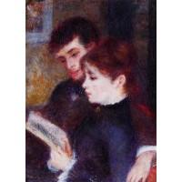 Reading Couple (Edmond Renoir and Marguerite Legrand)