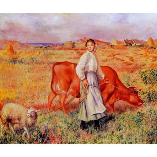 Shepherdess Cow and Ewe