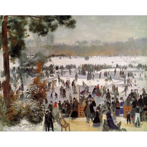 Skaters in the Bois de Boulogne