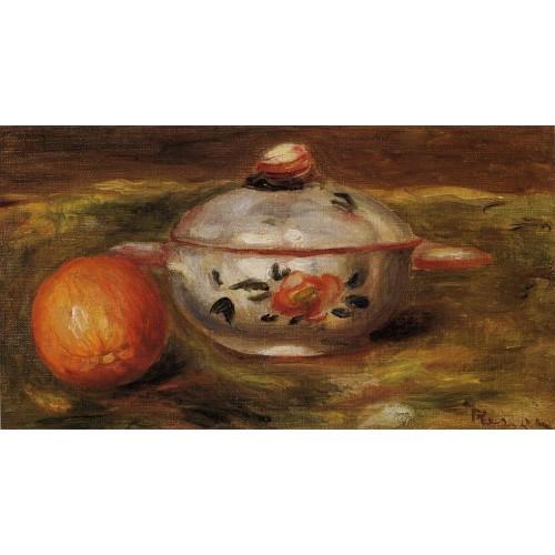 Still Life with Orange and Sugar Bowl
