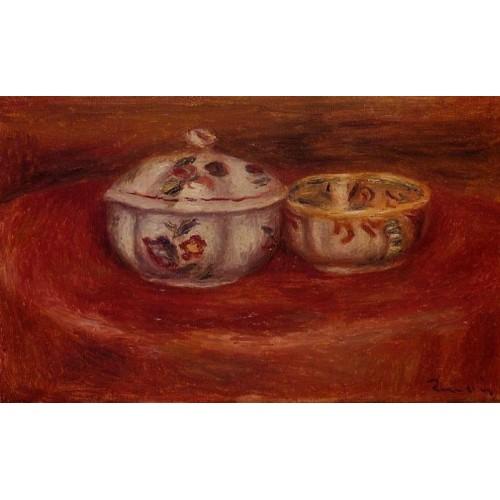 Sugar Bowl and Earthenware Bowl