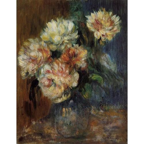 Vase of Peonies